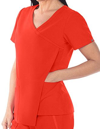 Grey's Anatomy Signature Women's Asym Front Drape Top