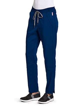 Greys Anatomy Women's Drawstring Petite Scrub Pants