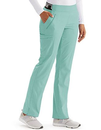 Grey's Anatomy Spandex Stretch Women's Knit Waist Scrub Pants