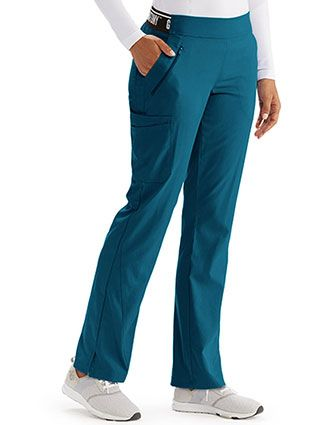 Grey's Anatomy Spandex Stretch Women's Knit Waist Scrub Tall Pants