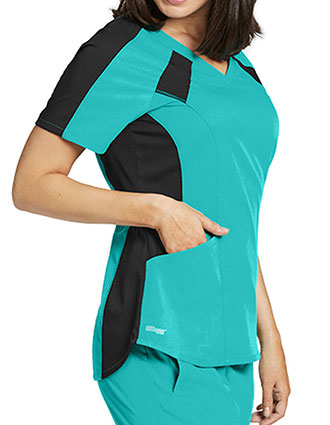 Greys Anatomy Women's Basic V-neck Scrub Top