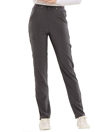HeartSoul Women's Logo Elastic Waistband Adored Natural Rise Tapered Leg Pant