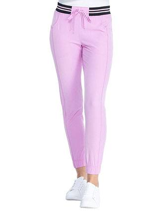 HeartSoul Break on Through Women's Rib Knit Waist Jogger Petite Pants