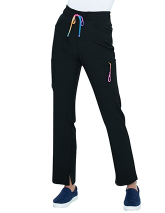 HeartSoul Break on Through Women's Mid Rise Tapered Leg Drawstring Pant