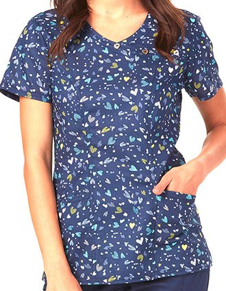 HeartSoul All About Blue Women's Cross Your Heart Printed Top
