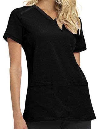 HeartSoul Break on Through Women's V-Neck Scrub Top