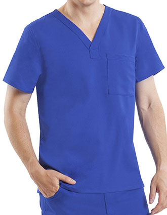 Healing Hands Blue Label Men's V-neck James Top