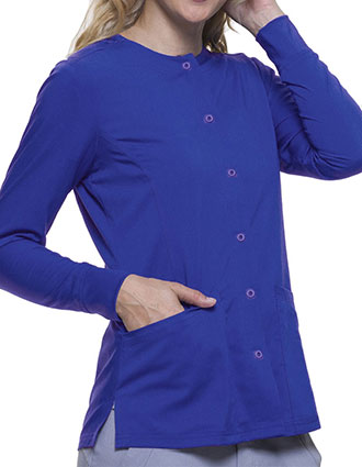 Healing Hands Purple Label Women's Snap Front Daisy Scrub Jacket