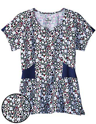 Jockey Scrubs Womens Tri-Blend Rondo Printed Nurses Top