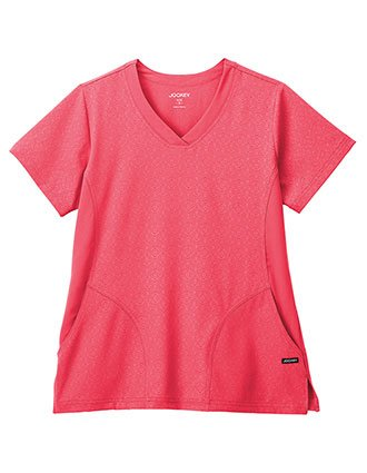 Jockey Classic Women's V-Neck Solid Illusion Hybrid Top
