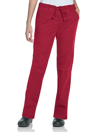 Landau Pre-Washed Women's CVC Straight Leg Cargo Pant