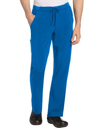 Landau Mens Exposed Elastic with Drawstring Cargo Pant