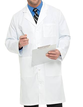 Landau Mens Twill 40.5 inch Knee Length Medical Lab Coat