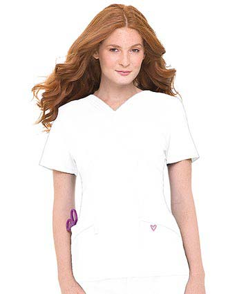 Landau Spring Fresh Women Two Pocket Tiffany V-Neck Scrub Top