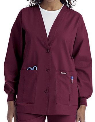 01cd6059edd Landau Womens Multiple Pocket Cardigan Medical Warm Up Jacket