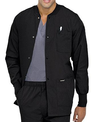 Landau Mens Multipocket Rib Knit Medical Scrub Jacket
