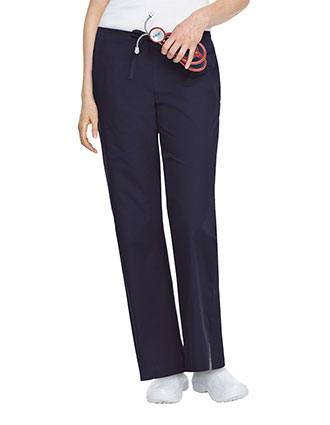 Landau ScrubZone Women Drawstring Front Flare Medical Scrub Pants