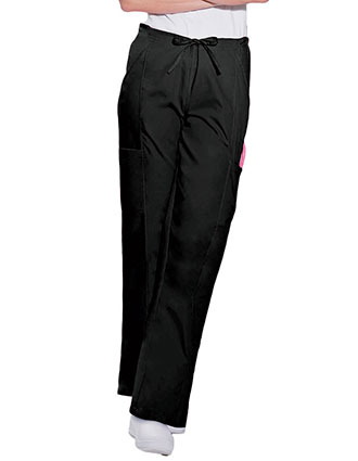 Landau ScrubZone Womens Four Pocket Petite Cargo Scrub Pants