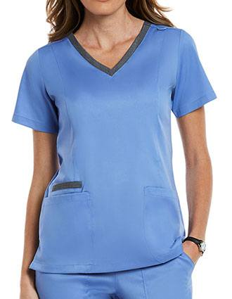 Maevn Matrix Women's V-Neck Scrub Top
