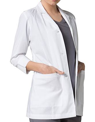 Maevn Red Panda Women's Vented Back 3/4 Sleeve Lab Coat