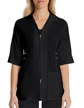 Maevn Women's Contrast Trim Smart Lab Jacket