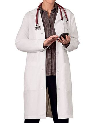 Meta Womens Three Pocket 38 Inches Long Medical Lab Coat