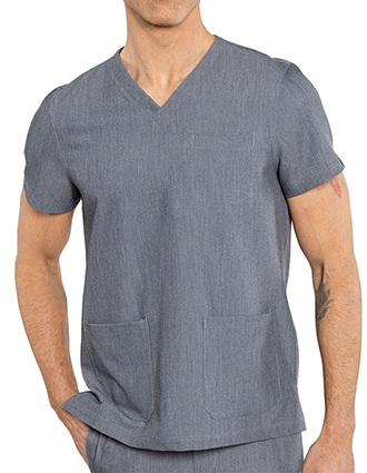 Med Couture Rothwear Men's Wescott Two Pocket Solid Scrub Top