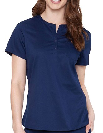 Med Couture Touch Women's Henley Solid Scrub Top