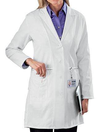 Meta Womens Three Pocket 36 Inches Long Lab Coat
