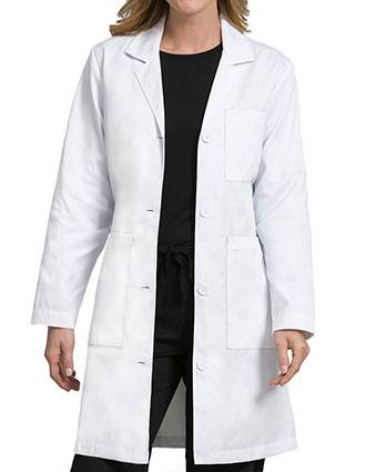 Med Couture Women's 3 Pockets 38 Inches Length Lab Coat