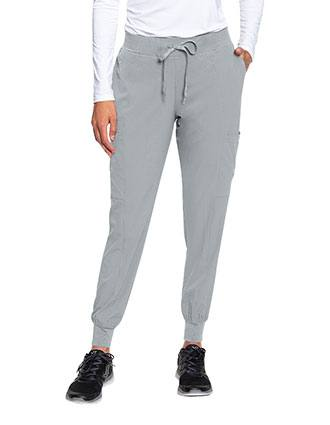Med Couture Peaches Women's Seamed Jogger Scrub Petite Pant