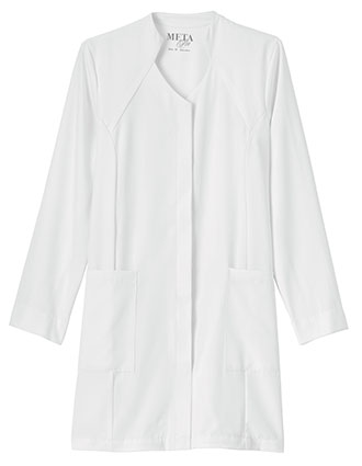 Meta Pro Women's 35 inch Stand Up Collar Stretch Labcoat