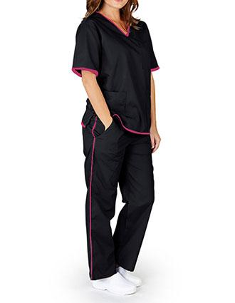 Natural Uniforms Women's Contrast Trim Scrub Set