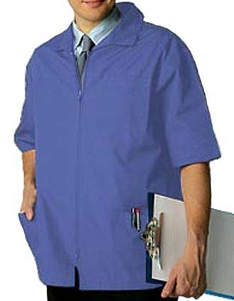 Adar Pro Zippered Front Five Pocket Mens Medical Scrub Jacket