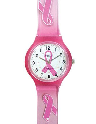 Prestige Pink Ribbon Scrub Watch