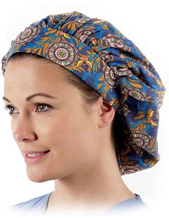 Prestige Assorted Print Bouffant Scrub Caps