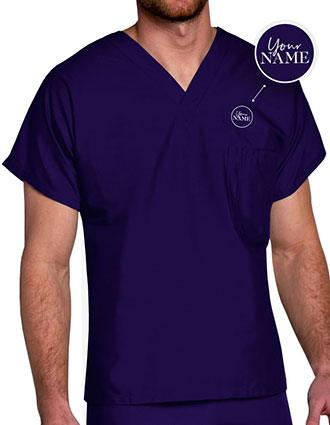 Unisex V-Neck Nurse Scrub Top