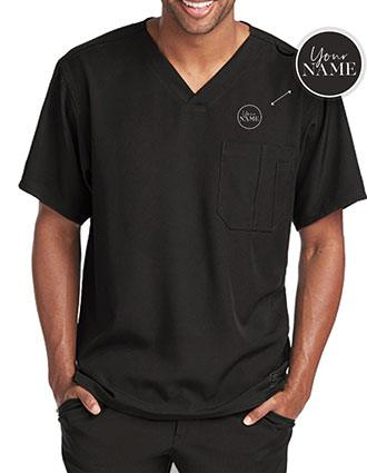 Men's Structure Crossover V-neck Basic Scrub Top