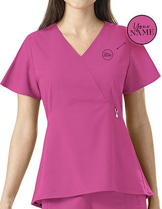 Women's Elizabeth Swing Peplum V-neck Scrub Top