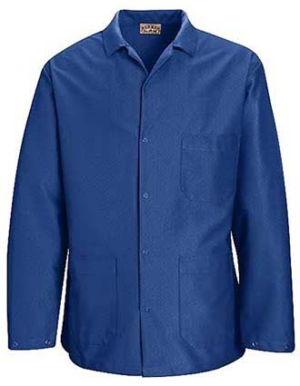 Clearance Sale! Red Kap ESD/Anti-Stat Counter Coat in Electronic Blue