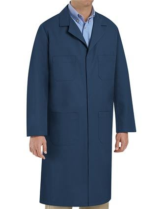 Red Kap Men's 43.75 Inches Four Pocket Navy Lab Coat