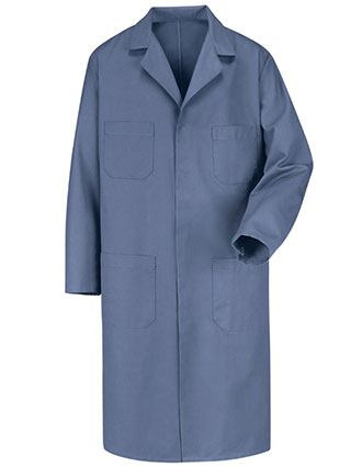 Red Kap Men's 43.75 Inches Four Pocket Postman Blue Shop Coat