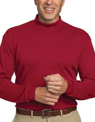 Sanmar Port Authority Men Interlock Knit Mock Turtleneck Top