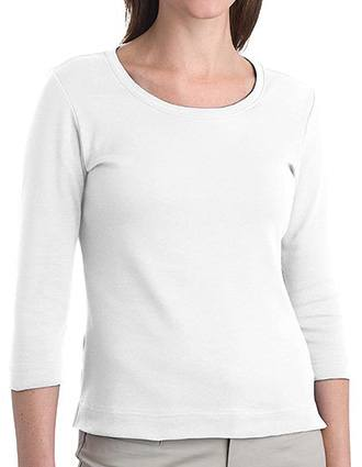 Sanmar Port Authority Ladies Modern Stretch Cotton 3/4 Sleeve Shirt
