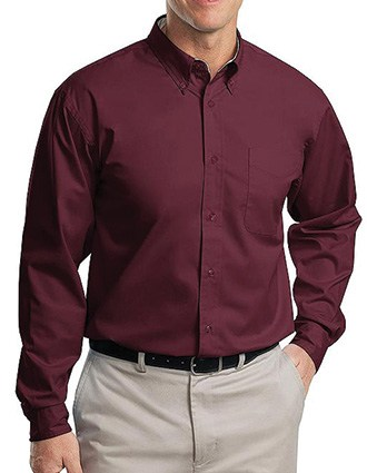 Sanmar Port Authority Men's Long Sleeve Easy Care Shirt
