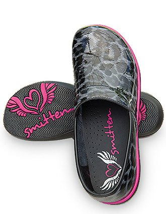 Smitten Women's zebra- inspired clogs