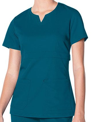 Urbane Ultimate Women's Notch Neck Solid Scrub Top