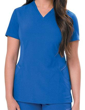 Urbane Ultimate V-neck Knit Panels Scrub Top