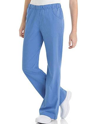 Urbane Ultimate Women's Comfort Elastic Waist Medical Scrub Petite Pants