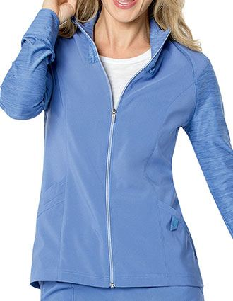 Urbane Womens QuickCool Zip Front Solid Scrub Jacket